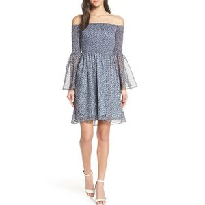 Sam Edelman Smocked Bodice Off-the-Shoulder Dress